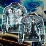 Sword Art Online - Kirito New Unisex 3D Zip Up Hoodie Jacket