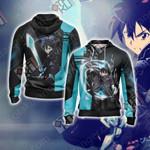 Sword Art Online - Kirito New Unisex 3D Zip Up Hoodie Jacket