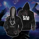 Sword Art Online - Kirito Unisex 3D Zip Up Hoodie Jacket
