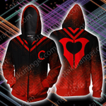 RWBY Cinder Fall Symbol Zip Up Hoodie