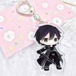 Sword Art Online Acrylic Keychain Asuna Kirito Animation Pendants Keyring