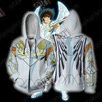 Saint Seiya Pegasus Seiya Pegasus God Cloth Cosplay Zip Up Hoodie