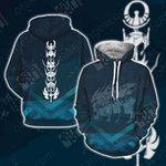 Saint Seiya Symbol Unisex 3D Hoodie