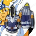 Seinto Seiya Cygnus Hyoga Cosplay Zip Up Hoodie Jacket