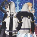 Sword Art Online Cosplay Zip Up Hoodie Jacket
