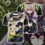 Seraph of the End - Yui and Mika Unisex 3D T-shirt