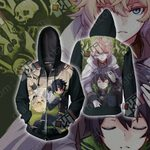 Seraph of the End - Yui and Mika Unisex Zip Up Hoodie Jacket