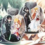 Sword Art Online Kirito And Asuna Unisex 3D Hoodie