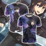 Sword Art Online Kirito Unisex 3D T-shirt