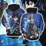 Sword Art Online Kirito Unisex 3D Hoodie