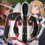 Sword Art Online The Movie Asuna Cosplay Zip Up Hoodie Jacket