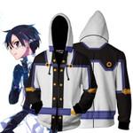 Sword Art Online The Movie Kirito Cosplay Zip Up Hoodie Jacket