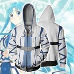 Sword Art Online Yuuki Asuna Cosplay (ALfheim Online Ver) Zip Up Hoodie Jacket