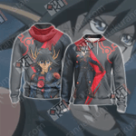 Yu-Gi-Oh! Fudo Yusei New Style Zip Up Hoodie Jacket