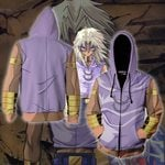 Yu-Gi-Oh! Marik Ishtar Cosplay New Look Zip Up Hoodie Jacket