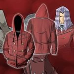 Yu-Gi-Oh! Maximillion Pegasus Cosplay Zip Up Hoodie Jacket