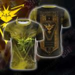 Team Instinct Pokemon Go New Unisex 3D T-shirt