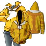 Yu-Gi-Oh! Ra Yellow Male Cosplay Zip Up Hoodie Jacket
