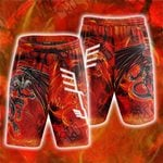 Yu-Gi-Oh! Red Dragon Archfiend  The Mark Of The Wings Beach Shorts