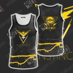 Team Instinct Pokemon Go Unisex 3D Tank Top