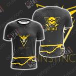 Team Instinct Pokemon Go Unisex 3D T-shirt