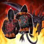 Yu-Gi-Oh! Red-Eyes Flare Metal Dragon Cosplay Zip Up Hoodie Jacket