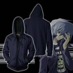 Yu-Gi-Oh! Ryo Bakura Cosplay Zip Up Hoodie Jacket