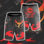Team Valor Pokemon Go Beach Shorts