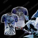 Yu-Gi-Oh! Seto Kaiba And Blue-Eyes Dragon Unisex 3D T-shirt