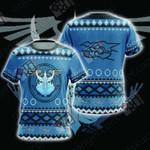 Yu-Gi-Oh! Stardust Dragon  Knitting Style Unisex 3D T-shirt
