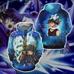Yu-Gi-Oh! Yusei Fudo and Stardust Dragon New Version 3D Hoodie