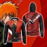 Bleach - Ichigo New Style Unisex Zip Up Hoodie