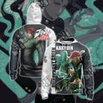 JoJo's Bizarre Adventure - Kakyoin and Hierophant Green Unisex Zip Up Hoodie Jacket