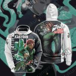JoJo's Bizarre Adventure - Kakyoin and Hierophant Green Unisex 3D Hoodie