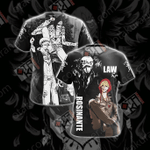 One Piece - Rosinante And Law Unisex 3D T-shirt