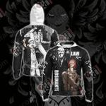 One Piece - Rosinante And Law Unisex Zip Up Hoodie Jacket