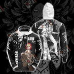 One Piece - Rosinante And Law Unisex 3D Hoodie