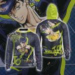 JoJo's Bizarre Adventure - Josuke Higashikata Unisex Zip Up Hoodie Jacket