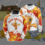 Digimon - Agumon Cute As Hell Unisex 3D Hoodie