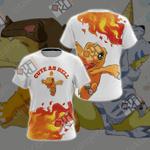 Digimon - Agumon Cute As Hell Unisex 3D T-shirt