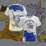 Digimon - Garurumon Cute As Hell Unisex 3D T-shirt