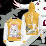 Puella Magi Madoka Magica - Kyubey Unisex Zip Up Hoodie Jacket