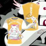 Puella Magi Madoka Magica - Kyubey Unisex 3D T-shirt