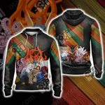 Naruto - All Tailed Beasts Unisex Zip Up Hoodie