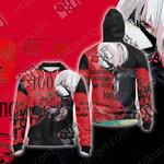 Tokyo Ghoul : Re-Kaneki Ken Unisex Zip Up Hoodie Jacket