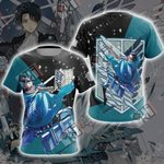Attack On Titan - Levi New Look Unisex 3D T-shirt