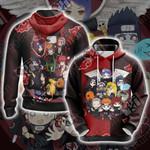 Naruto - Chibi Akatsuki Unisex 3D Hoodie