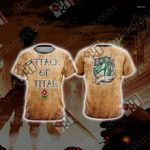 Attack On Titan - Military New Unisex 3D T-shirt