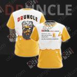 DrUncle Beer+Uncle 3D T-shirt