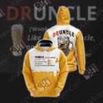 DrUncle Beer+Uncle 3D Hoodie